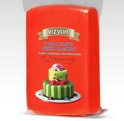 Мастика сахарная красная 500 г. Polen Vizyon 1