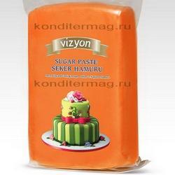 Мастика сахарная Полен оранжевая 1 кг. 1