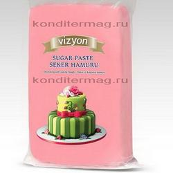 Мастика сахарная Полен розовая 1 кг. 2