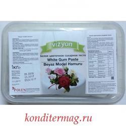 Мастика сахарная Polen Vizyon белая цветочная 1 кг. 1