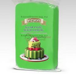 Мастика сахарная Полен зеленая 1 кг. 1