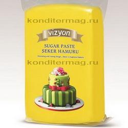 Мастика сахарная Полен желтая 1 кг. 1
