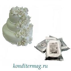 Мастика сахарная Топ Продукт Белая цветочная 600 г. 1