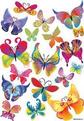 Вафельная картинка Бабочки 1