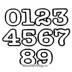 Пэчворк Маленькие цифры 1,3 см. 10 шт. 2