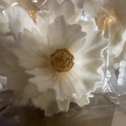 Украшение сахарное Пион Королевский с золотом см. 1