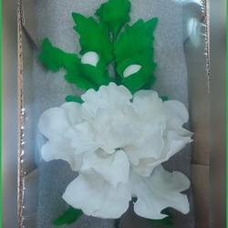 Украшение сахарное Букет Пион белый пбб30 1