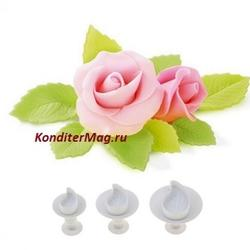 Плунжеры Листик розы набор 3 шт. 1
