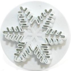 Плунжер Снежинка резная большая 5,5 см. пластик 1