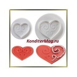 Плунжер кондитерский Сердце 4 шт. 3