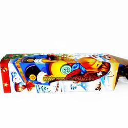 Подарочная упаковка Новогодняя для бутылки 42х12 см. 2