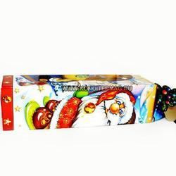 Подарочная упаковка Новогодняя для бутылки 42х12 см. 1