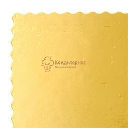 Подложка под торт усиленная 3 мм. 40х50 см. фигурная зол/черн. 1