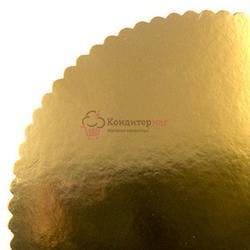 Подложка под торт усиленная 3 мм. 26 см. фигурная зол. 1