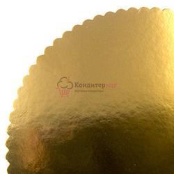 Подложка под торт Ромашка 3 мм. 36 см. зол. 1