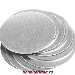 Подложка под торт 0,8 мм. 8 см. серебро 100 шт. 2