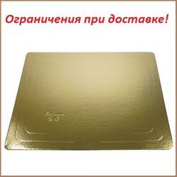 Подложка под торт усиленная 3,2 мм. 30х40 см. зол/бел. 1