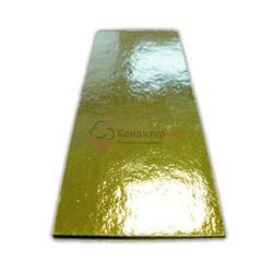 Подложка под торт 0,8 мм. 13х4,5 см. зол/сер 1