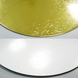 Подложка под торт усиленная 1,5 мм. 20 см. зол/бел. 1
