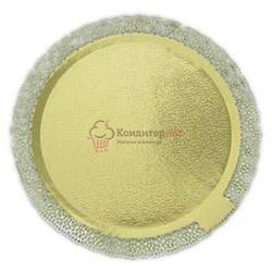 Подложка под торт усиленная 2,5 мм. Леонардо 30 см. золото 1