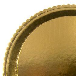 Поднос круглый золото 42 см, картон 1