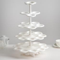 Подставка для пирожных Каскад 5-ярусная пластик 1