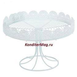 Подставка для торта и пирожных круглая 25х16 см. 1