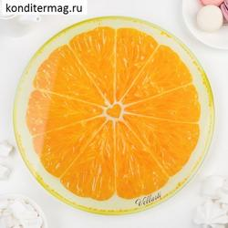 Поворотный столик для торта 30х3 см. Апельсин 1