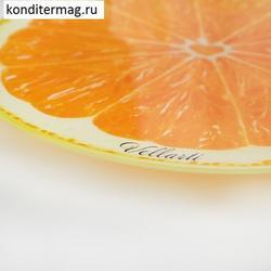 Поворотный столик для торта 30х3 см. Апельсин 2