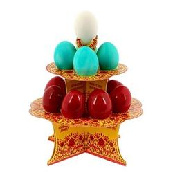 Подставка пасхальная на 12 яиц ХВ под хохлому 19,8х19,8 см. 1