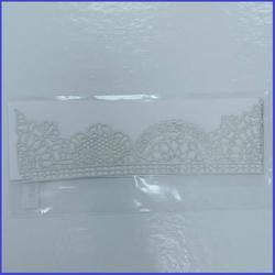 Кружево сахарное №1 Серебро перл. 37х5,4 см. 1