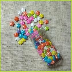 Посыпка сахарная МИКС Цветочное поле 50 г. 1