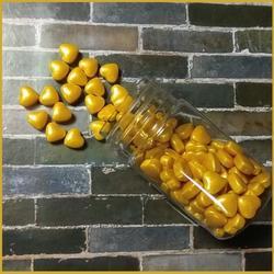Посыпка сахарная МИКС Сердечки золотые перл. 9 мм. 50 г. 1