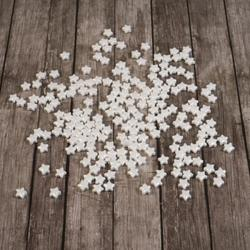 Посыпка сахарная Звездочки белые перл. 7 мм. 50 г. 1
