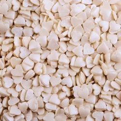 Посыпка сахарная Сердечки белые перл. 90 г. банка 1