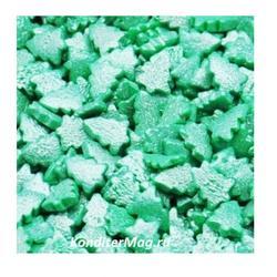 Посыпка сахарная Елки зеленые перл. 90 г. 1