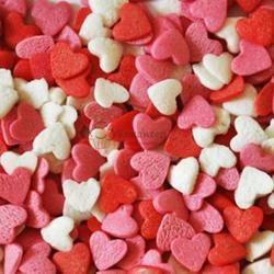Посыпка Сердечки красно-бело-розовые 100 г. 1