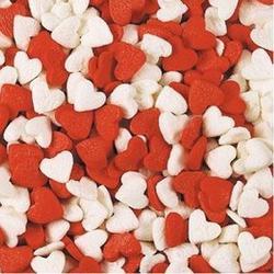 Посыпка Сердечки красно-белые 100 г. 1