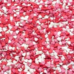 Посыпка сахарная Сердечки мини красн/бел/роз. 100 г. 1