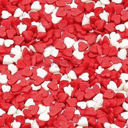 Посыпка Сердечки мини красно-белые 100 г. 1