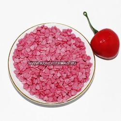 Посыпка сахарная Сердечки розовые мини 100 г. 2
