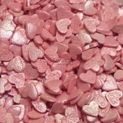 Посыпка Сердечки розовые перламутровые 100 г. 1