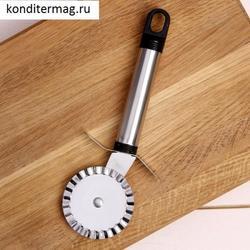 Нож для пиццы и теста 18 см. Помощник волна 1