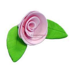 Украшение сахарное Роза розовая 5 шт. 1