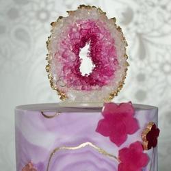 Сахарные кристаллы светло-розовые 90 г. 2