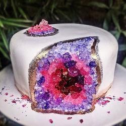 Сахарные кристаллы темно-розовые 90 г. 2