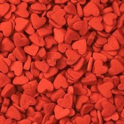 Посыпка Сердечки мини красные 100 г. 1
