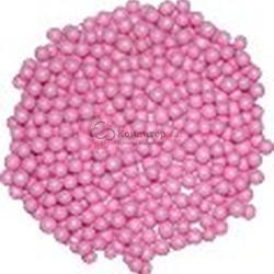 Декор Шарики сахарные перламутровые розовые 5 мм. 100 г. 1