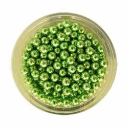 Декор Шарики сахарные зеленые 5 мм. 100 г. 1