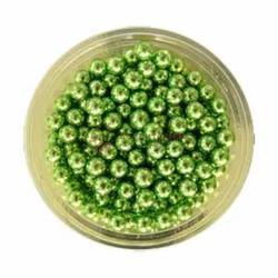 Декор Шарики сах. зеленые 5 мм, 100 г, 1